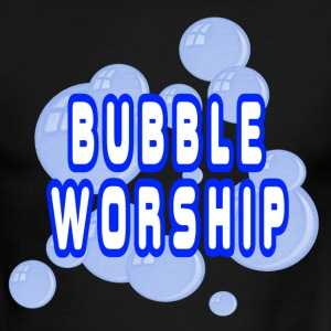 Black/white Bubble Worship T-Shirts - Men's Ringer T-Shirt