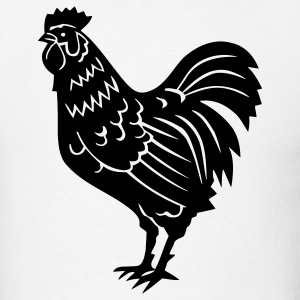 Rooster Chicken 1c - Men's T-Shirt