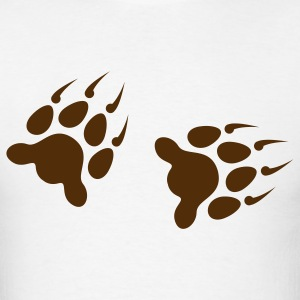 Wolf Footprints 1c - Men's T-Shirt