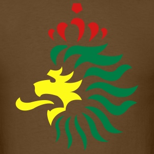 Reggae Lion King Crown 3c - Men's T-Shirt