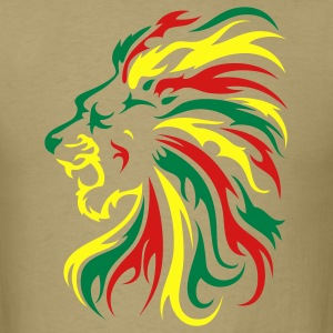 Reggae Lion Tribal 3c - Men's T-Shirt