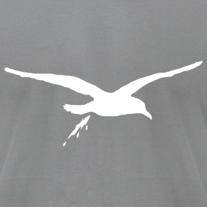 Slate bombing sea gull T-Shirts - Men's T-Shirt by American Apparel