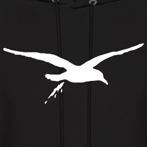 Black bombing sea gull Hoodies - Men's Hoodie