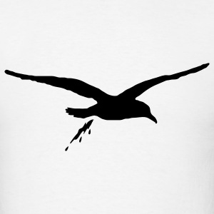 White bombing sea gull T-Shirts - Men's T-Shirt