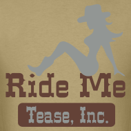 Design ~ Ride Me - Cowgirl: Men's Bargain T Shirt