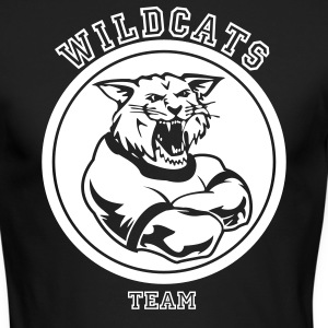 Wildcats or Wilcat Sports Team Mascot Long Sleeve Shirts - Men's Long Sleeve T-Shirt by Next Level