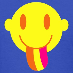 Light blue Smiley with a rainbow tongue Women's T-Shirts - Women's T-Shirt