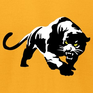 Gold Panther T-Shirts - Men's T-Shirt by American Apparel