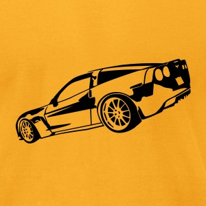 Gold Corvette T-Shirts - Men's T-Shirt by American Apparel