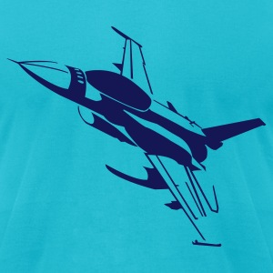 Turquoise F16 T-Shirts - Men's T-Shirt by American Apparel