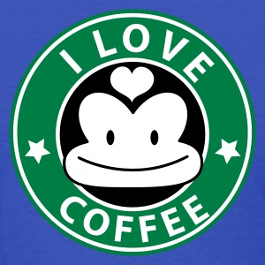 Light blue i love coffee monkey face starbucks parody cute Women's T-Shirts - Women's T-Shirt