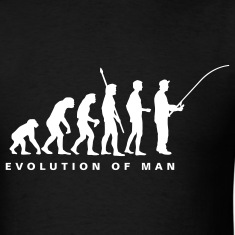 Black evolution_fishing_b T-Shirts