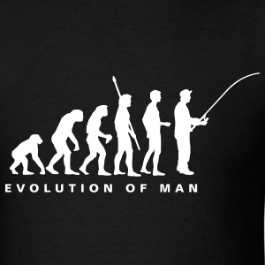Black evolution_fishing_b T-Shirts - Men's T-Shirt