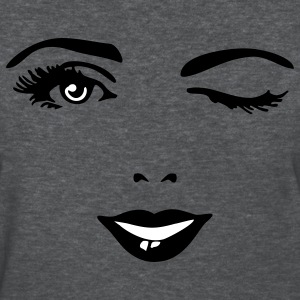 Deep heather female_face_2c Women's T-Shirts - Women's T-Shirt