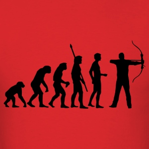 Red evolution_bogenschiessen T-Shirts - Men's T-Shirt