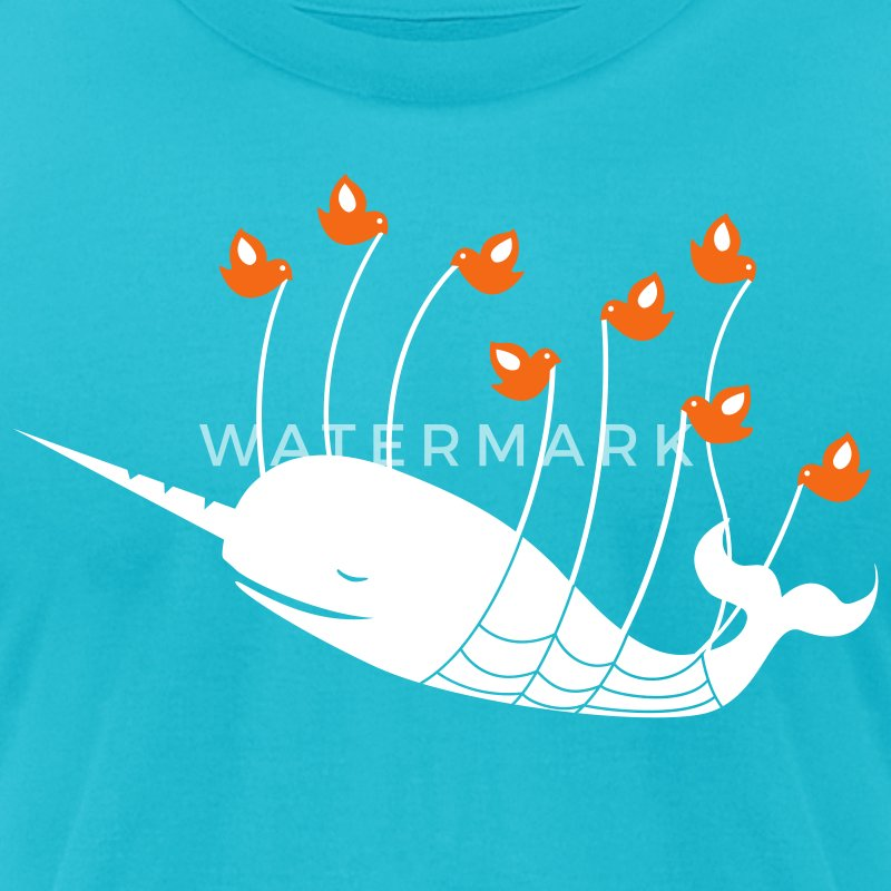 Fail Narwhal - Men's T-Shirt by American Apparel