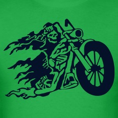 Bright green evil_biker T-Shirts