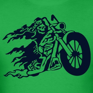 Bright green evil_biker T-Shirts - Men's T-Shirt