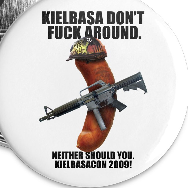 [R Rated] KielbasaCon 2009 Button (small)
