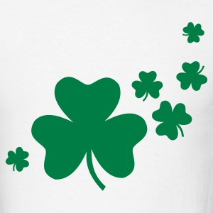 White Shamrocks T-Shirts - Men's T-Shirt