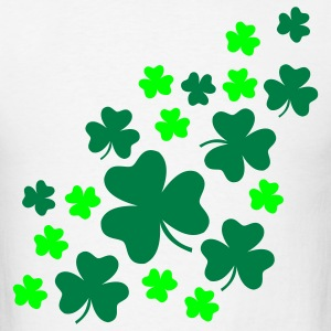 White Shamrock T-Shirts - Men's T-Shirt
