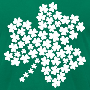 Kelly green Shamrock T-Shirts - Men's T-Shirt by American Apparel