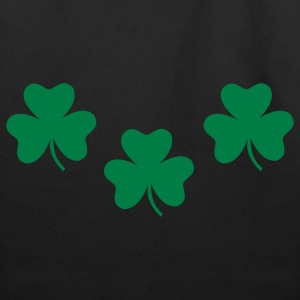 Black Shamrocks - St. Patricks Bags  - Eco-Friendly Cotton Tote