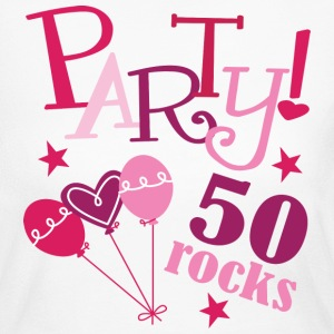 Pink 50th Birthday Rocks long sleeve t-shirt - Women's Long Sleeve Jersey T-Shirt