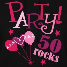 Womens 50th Birthday Rocks Hoodie