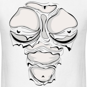 Ripped Muscles Female Monotone, chest T-shirt, comicbook breasts - Men's T-Shirt