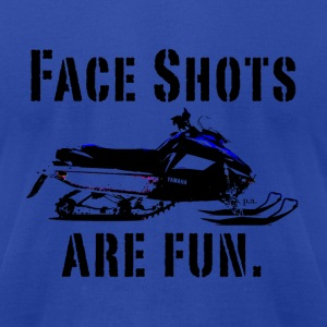 Royal blue snowmobile T-Shirts - Men's T-Shirt by American Apparel