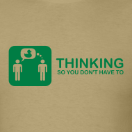 Design ~ thinking - green on khaki