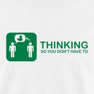 Design ~ thinking - green on white