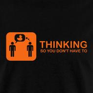 Design ~ thinking - orange on black