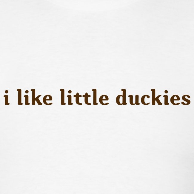 duckies - brown on white