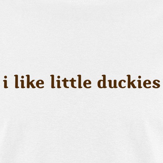 duckies - brown on white