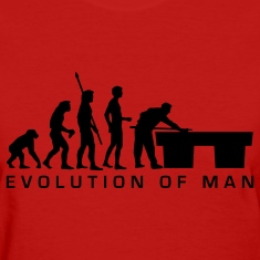 Red evolution_billard_b_us Women's T-Shirts