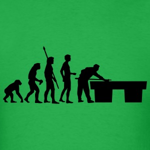 Bright green evolution_billard_us T-Shirts - Men's T-Shirt