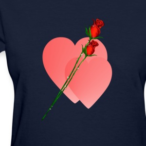 Two Roses Two Hearts - Women's T-Shirt
