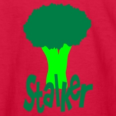 Red Stalker With Head Of Broccoli Kids' Shirts