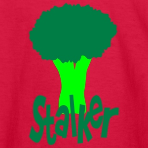 Red Stalker With Head Of Broccoli Kids' Shirts - Kids' Long Sleeve T-Shirt