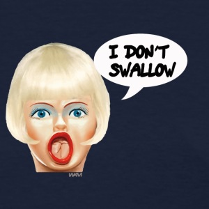 Navy i don't swallow Women's T-Shirts - Women's T-Shirt