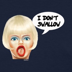 Navy i don't swallow Women's T-Shirts