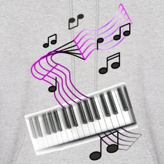 Ash  keyboardumsic2 Hoodies