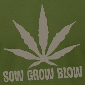 Olive Sow Grow Blow T-Shirts - Men's T-Shirt by American Apparel
