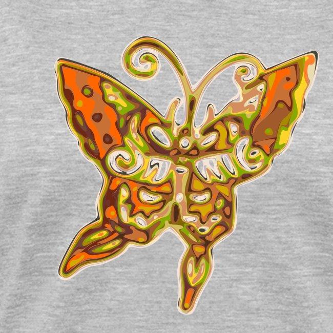Women's Retro Butterfly V-neck T-shirt