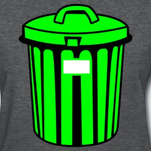 Deep heather trash garbage can Women's T-Shirts - Women's T-Shirt