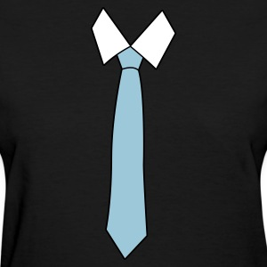 Black simple neck tie Women's T-Shirts - Women's T-Shirt