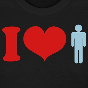 Black i heart love men Women's T-Shirts - Women's T-Shirt