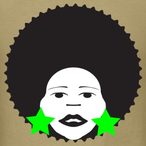 Khaki afro woman green T-Shirts - Men's T-Shirt